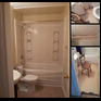 thumbnail Bathroom renovation. Mold removal, drywall, insulation, flooring, painting, plumbing, fixtures.